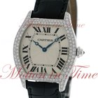 Cartier Tortue Large, Silver Dial, Diamond Bezel - White Gold...