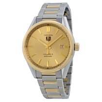 TAG Heuer Carrera Calibre 5 Gold Dial Stainless Steel Yellow...