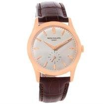 Patek Philippe Calatrava 18k Rose Gold Mechanical Watch 5196r...