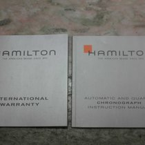 Hamilton vintage kit  booklet warranty papers chronograph