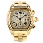 Cartier Roadster Xl W62021y2 18k Yellow Gold Chronograph Watch...