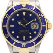 勞力士 (Rolex) Submariner 16613 40mm Blue 18k Yellow Gold...