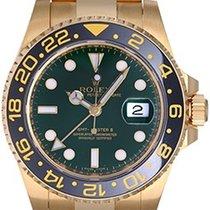 Rolex GMT-Master II Men's 18K Yellow Gold Watch 116718...