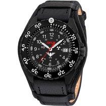 KHS Uhren Herrenuhr Enforcer Black Steel KHS.ENFBS.R