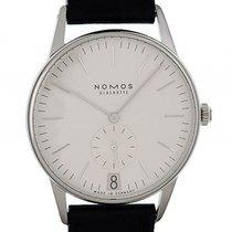 Nomos Glashütte Orion 38 Datum Weiß Stahl Handaufzug Armband...