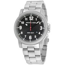 Michael Kors Paxton Black Dial Stainless Steel Men's Watch...
