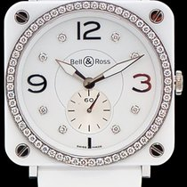 Bell & Ross BR S White Ceramic Phantom Diamonds