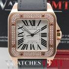 Cartier Santos 100XL Rose Gold Diamond Bezel