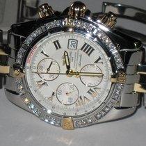 Breitling Chronomat Evolution 18K Gold / Steel Diamonds