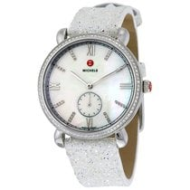 Michele Gracile Mother of Pearl Dial Diamond Ladies Watch
