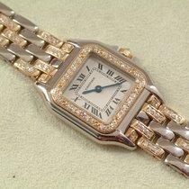 Cartier Panthere massiv Gold Damenuhr mit original Brillant...