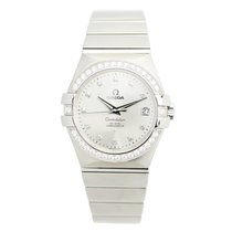 Omega Constellation Stainless Steel With Diamonds Silver...