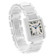 Cartier Tank Francaise Large 18k White Gold Unisex Watch W50011s3