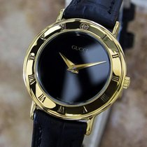 Gucci 3000.2l Swiss Made Ladies 26mm Quiartz Gold Plated Dress...