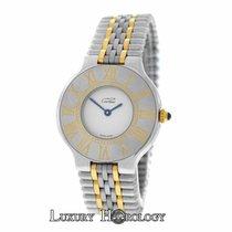 Cartier Genuine Ladies Must de   Midsize 123000P Gold Steel 31MM