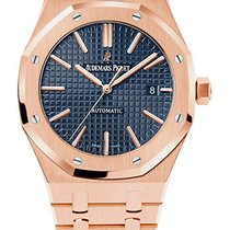 Audemars Piguet Royal Oak Automatic Blue Dial 18kt Pink Gold