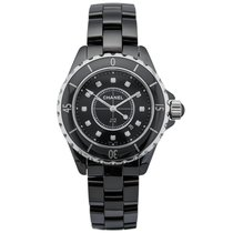 Chanel J12 Diamonds Black Ceramic Ladies