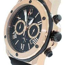 Bulova Mens Black Rubber & Rose Gold Marine Star Chronogra...
