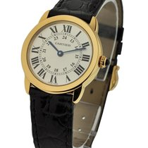 Cartier W6700355 Ronde Solo- Small Size - Yellow Gold on Strap...