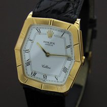 Rolex Cellini Hexagonal 18k Gold Like New Dress Watch Papers