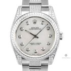 Rolex Oyster Perpetual Stainless Steel Mother of Pearl Diamond...