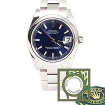 Rolex Oyster Perpetual Datejust 31 mm blue index NEW