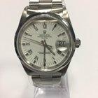 Rolex date 15200 white dial roman