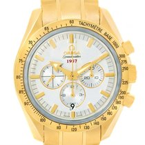 Omega Speedmaster Broad Arrow 18k Yellow Gold Watch 321.50.42....