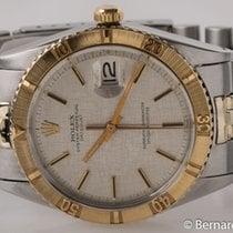 Rolex - Datejust 'Thunderbird' : 1625 silver linen...