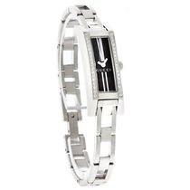 Gucci 110 G-Link Ladies Diamond Black Dial Swiss Quartz Watch...