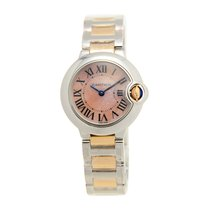 Cartier Ballon Bleu Stainless Steel Pink Quartz W6920034