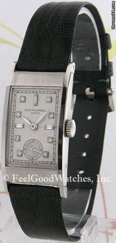 Patek Philippe 425P Vintage Rectangle, Diamond Dial, Platinum