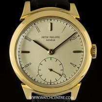 Patek Philippe 18k Yellow Gold Silver Dial Rare Vintage Rams...