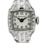 Hamilton Platinum Ladies Diamond Watch