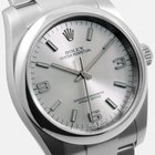 Rolex SS 36mm Oyster Perpetual Silver Arabic 114200 model