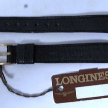 Longines leather strap black mm 12 and buckle gold plated nos