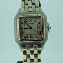 Cartier Panthere großes Modell Quarz - Stahl / 3 Band Gelbgold