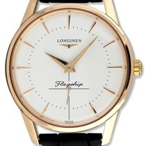 Longines Flagship Automatic 18k Solid Rose Gold Mens Watch...