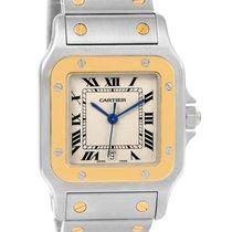 Cartier Santos Galbee Large Steel 18k Yellow Gold Quartz Watch...