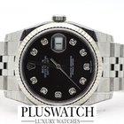 Rolex DATEJUST 116234 NUOVO NEW Diamond Brilli Black Dial...