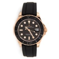 Rolex Yacht-Master 18K Everose Gold Rubber Strap Automatic