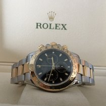 Rolex Oyster Daytona Cosmograph Gold Steel Black Dial 40 mm...