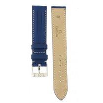Omega Blue Leather Strap 18-16mm