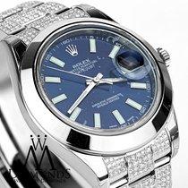 Rolex Datejust Ii Blue Dial  41mm  Automatic Watch Diamond...