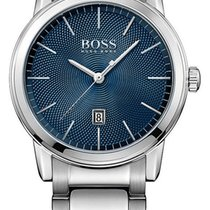 Hugo Boss Classic Stainless Steel Mens Watch Blue Dial...