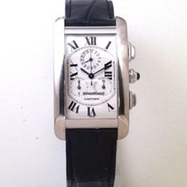 Cartier Tank Americaine Chronograph White Gold