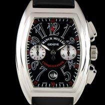 Franck Muller S/S Black Dial Conquistador Chrono Gents B&P...