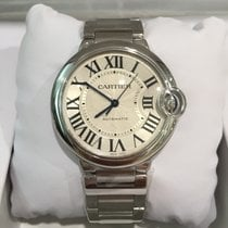 Cartier BALLON BLEU STEEL 34MM SILVER DIAL