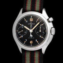 Lemania Vintage  British Navy  single  pusher chronograph