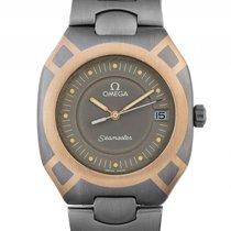 Omega Seamaster Titan Gelbgold Intarsien Quarz Armband Titan...